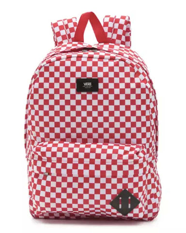 OLD SKOOL CHECKERBOARD BACKPACK RED CHECKER