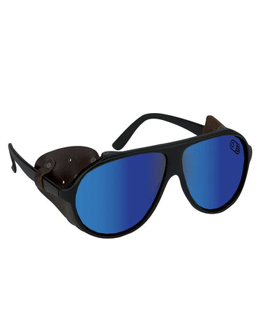 POLARIZED GLACIER GLASSES MATTE BLACK