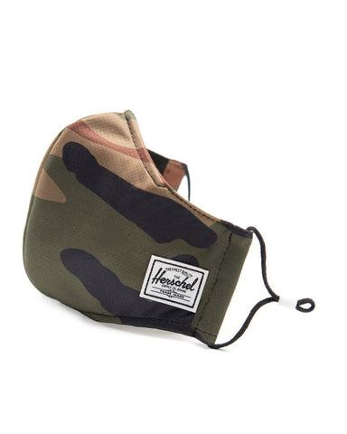 HERSCHEL CLASSIC FITTED FACE MASKS WOODLAND CAMO
