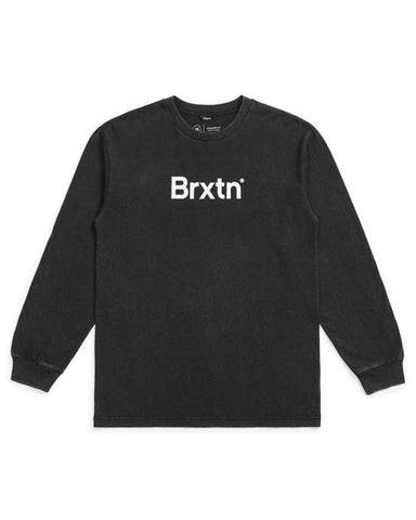 CROWD II L / S TEE - BLACK