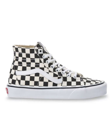 CHECKERBOARD SK8-HI TAPERED IN - BLACK/TRUE WHITE