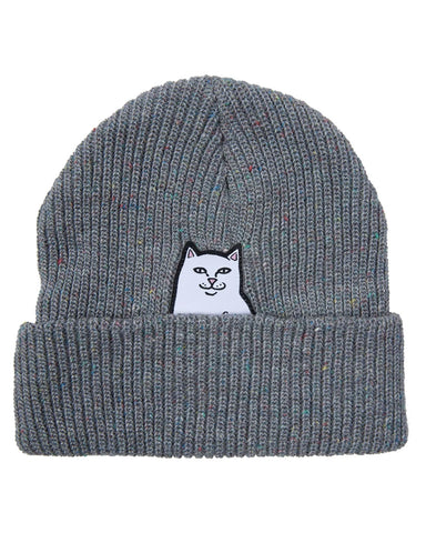 LORD NERMAL RIBBED BEANIE HEATER SPECKLE MULTI