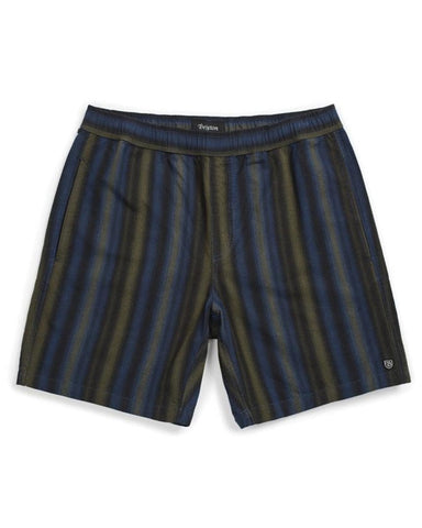 STEADY ELASTIC WAISTBAND SHORT - NAVY/GREEN
