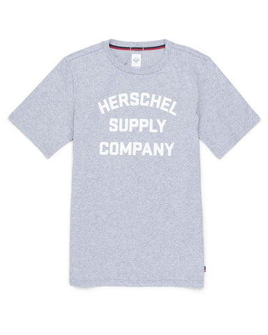 STACKED CHEST HEATHER GRAY / WHITE
