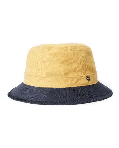 B-SHIELD BUCKET HAT SUNSET YELLOW / WASHED NAVY