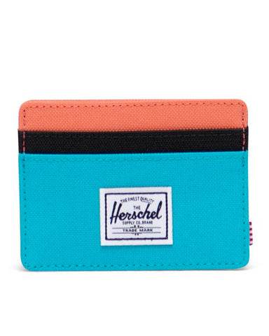 CHARLIE WALLET BLUE BIRD / BLACK RIPSTOP / EMBERGLOW
