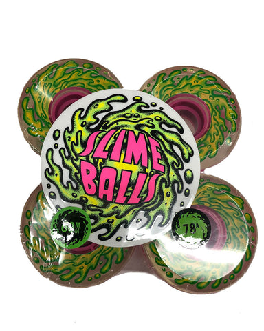SLIME BALLS WHEELS OG SLIME CLEAR PINK 78A 60MM