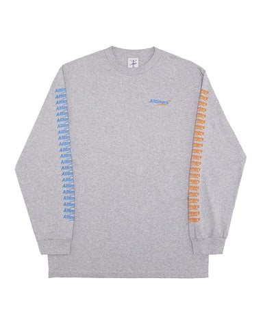 COUNT IT UP LS TEE HEATHER GRAY