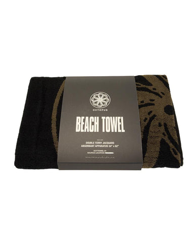 OCTO BEACH TOWEL BLACK / OLIVE
