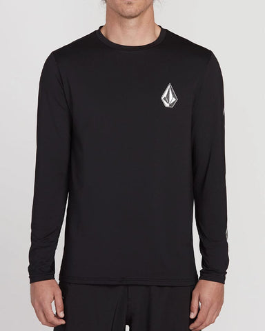 DEADLY STONES LONG SLEEVE UPF 50 RASHGUARD - BLACK