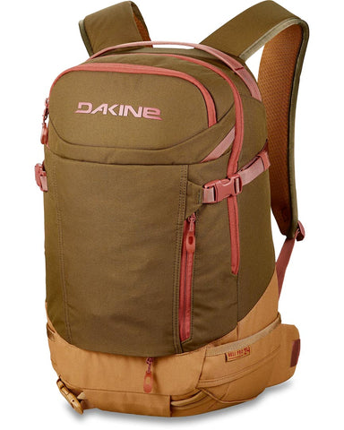 WOMENS HELI PRO 24L BACKPACK DARK OLIVE CARAMEL