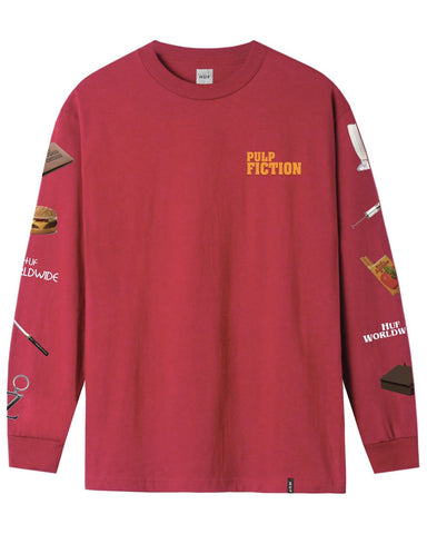 PULP FICTION PROPS LONG SLEEVE T-SHIRT RED