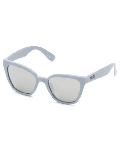 HIP CAT SUNGLASSES ZEN BLUE / SILVER MIRROR LENS