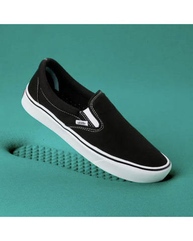 COMFYCUSH SLIP-ON BLACK/TRUE WHITE