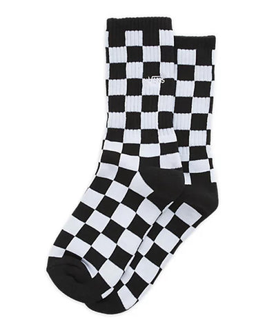 BOY CHECKERBOARD CREW SOCKS BLACK/WHITE CHECKER