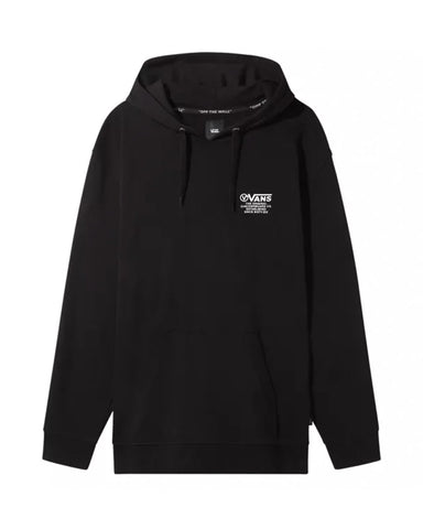 DISTORTION TYPE PULLOVER HOODIE BLACK
