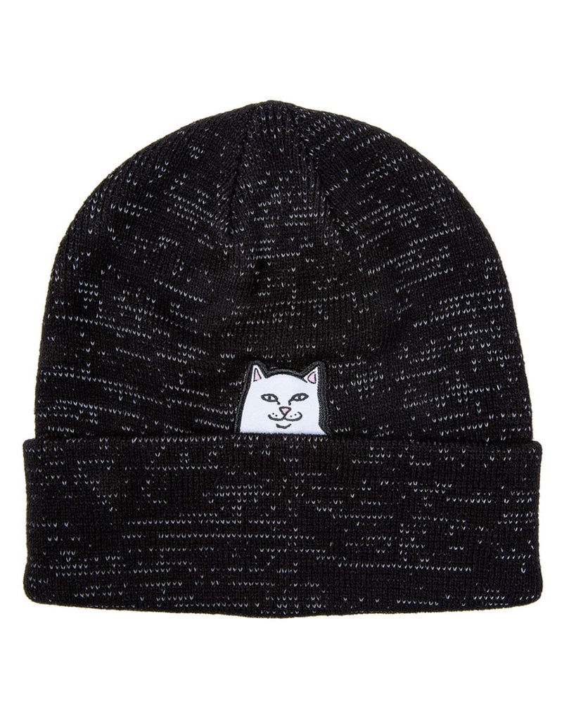 Tuque RIPNDIP LORD NERMAL REFLECTIVE YARN BEANIE BLACK