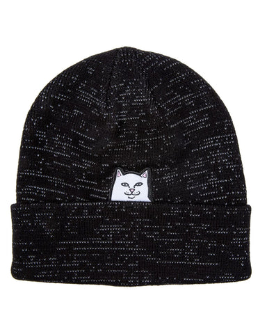 LORD NERMAL REFLECTIVE YARN BEANIE BLACK