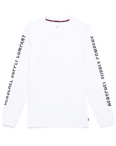 SLEEVE PRINT LONG SLEEVE BRIGHT WHITE / BLACK