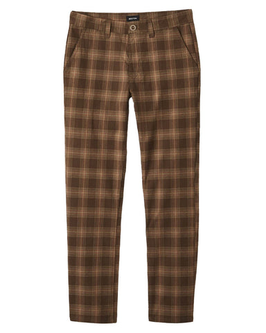 CHOICE CHINO PANT WASHED BROWN PLAID