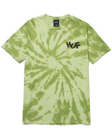 HAZE BRUSH TIE DYE T-SHIRT LIME