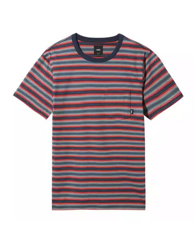 KNOLLWOOD STRIPE T-SHIRT STARGAZER RACING RED
