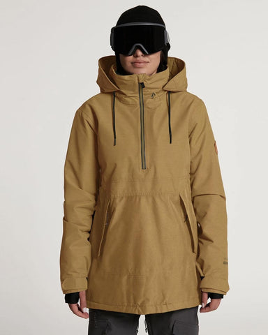 WOMENS FERN INSULATED GORE-TEX PULLOVER - BURNT KHAKI