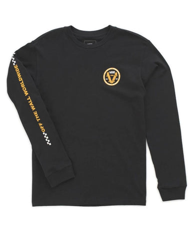 BOYS OLD SKOOL V L/S BLACK