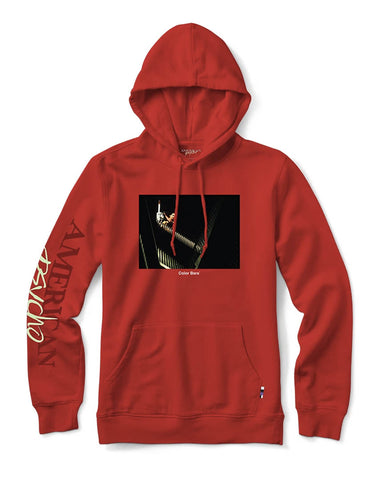 CHAINSAW HOOD RED