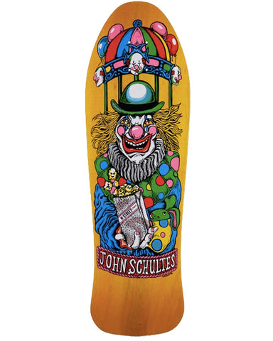 "RE-ISSUE DECK SCHULTES KRAZY KLOWN 9.9"" X 31"" (35/130 B-SERIES)"