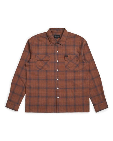 FRANCO PLAID L / S WOVEN BROWN / NAVY