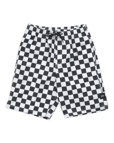 "BOYS MIXED 17"" VOLLEY - BLACK/WHITE CHECKERBOARD"