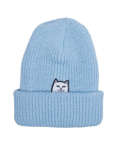 LORD NERMAL RIBBED BEANIE LIGHT BLUE