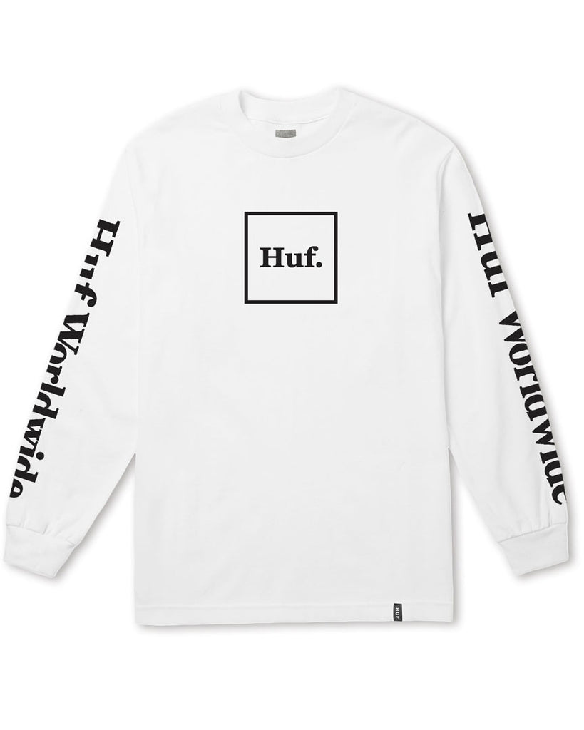 T-shirt manche longue HUF DOMESTIC LS WHITE