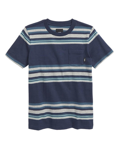 BOYS EXTON SHORT SLEEVE KNITS SHIRT - DRESS BLUES