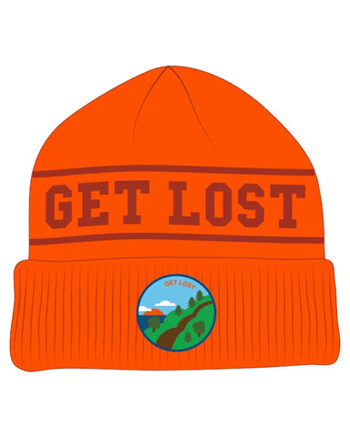 BEANIE DONT GET LOST ORANGE