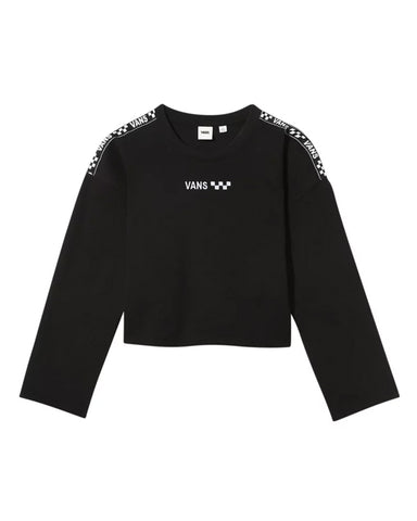 BRAND STRIPER CREWNECK SWEATER BLACK