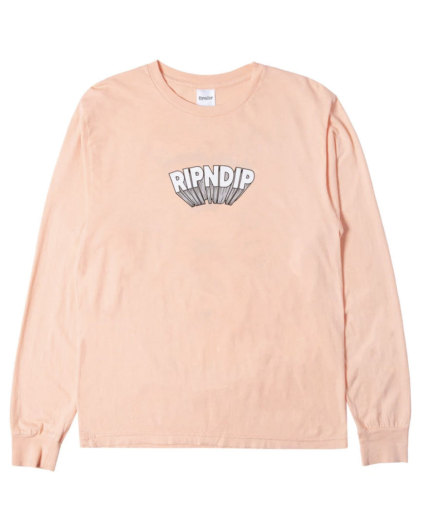T-shirt manche longue RIPNDIP MIND BLOWN  LS TEE PEACH