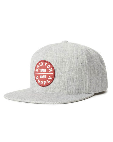 OATH III SNAPBACK - HEATHER GREY/LAVA RED
