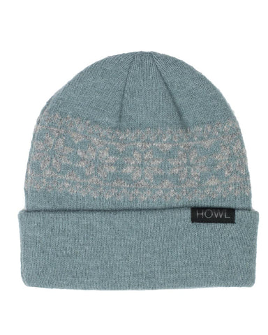SNOW FLAKE BEANIE BLUE