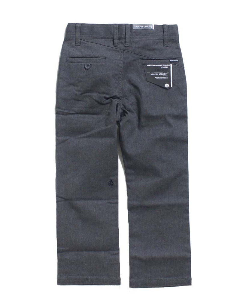 Pantalon VOLCOM FRICKIN MODERN LITTLE BOYS STRETCH CHARCOAL