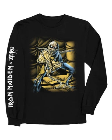 IRON MAIDEN - PIECE OF MIND L / S TEE BLACK