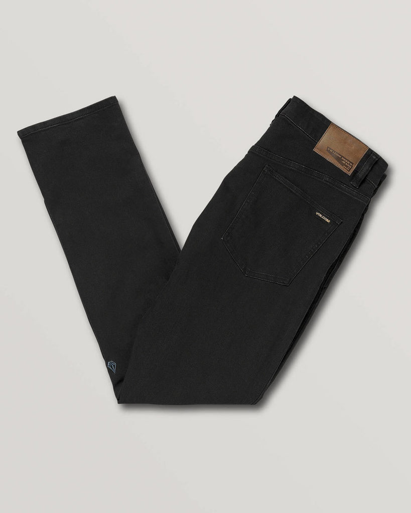 Pantalon VOLCOM VORTA SLIM FIT JEANS - BLACK OUT