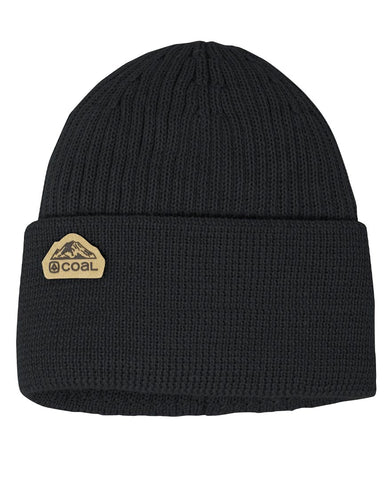The Coleville Recycled Cuff Beanie - Black