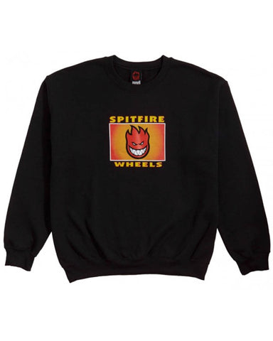 SPITFIRE LABEL SWEATSHIRT - BLACK/MULTI