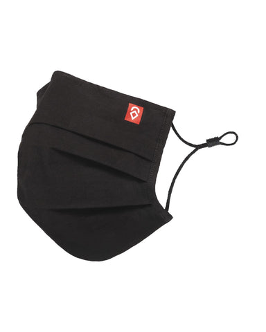 BASIC PLEATED 3L FACEMASK BLACK