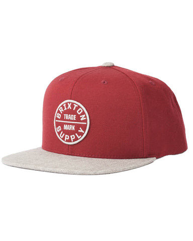 OATH III SNAPBACK COWHIDE / HEATHER GRAY