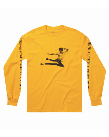 KUNG FLARE LONG SLEEVE GOLD T-SHIRT