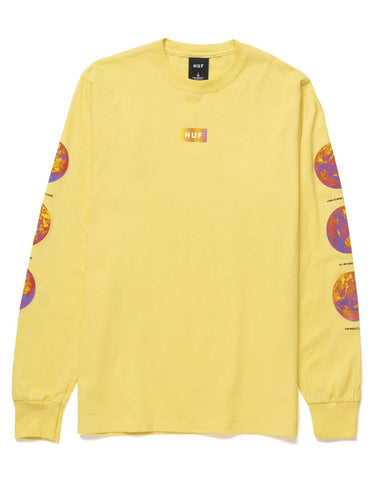 CLIMATE MELTDOWN LONG SLEEVE T-SHIRT YELLOW
