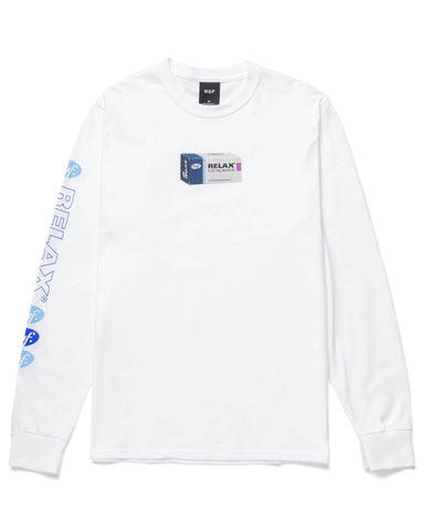 RELAX LONG SLEEVE T-SHIRT T-SHIRT WHITE
